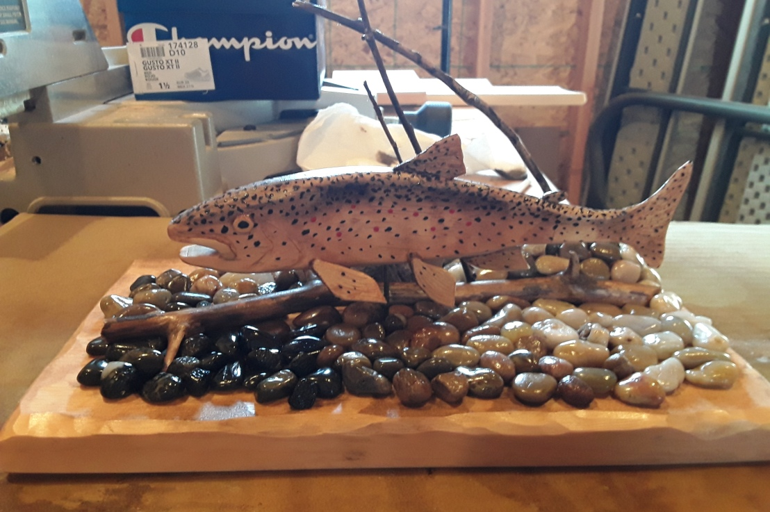 Beginning 3d Scroll Saw Projects:  The Brown Trout Fish